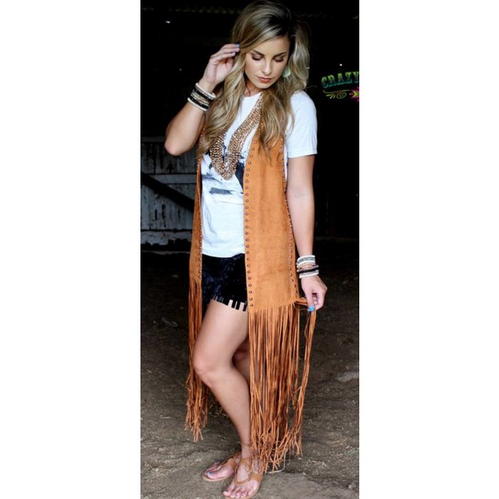 Texas Tangerine Studded Duster - ONE SIZE