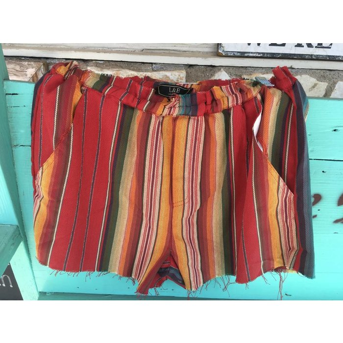 Red Serape Shorts