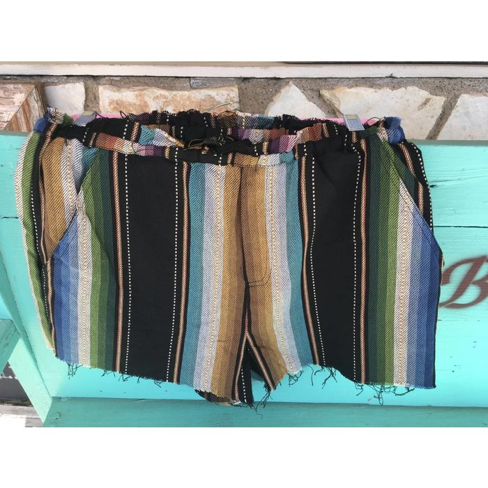 Blue Serape Shorts