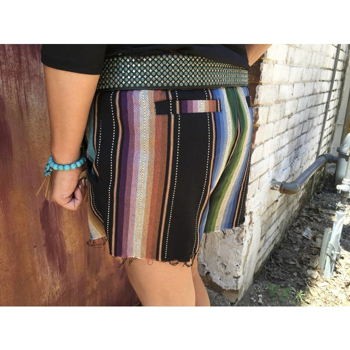 Blue Serape Shorts