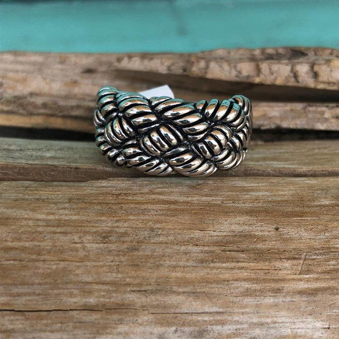Size 9 Braided Silver Plated Ring