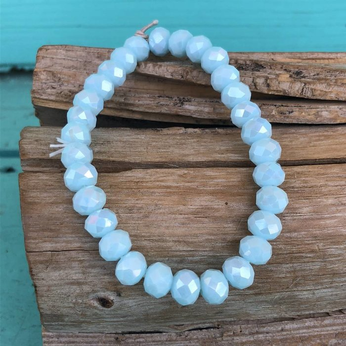 Pacific Opal Crystal Stretch Bracelet