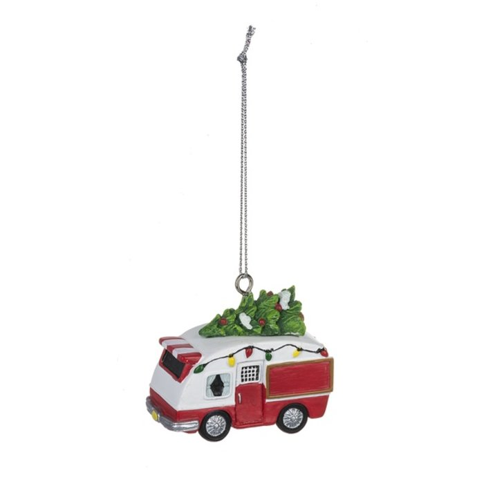 Camper Polystone Christmas Ornament