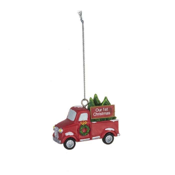 Our 1st Christmas Red Truck Christmas Ornament