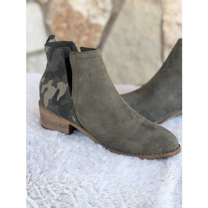 Shield Camo Ankle Bootie