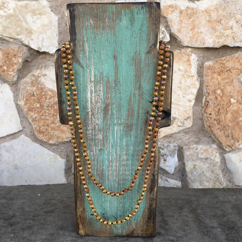 "Small Harvest Mustard 60"" Crystal Necklace - TheBlingBoxOnline.com"