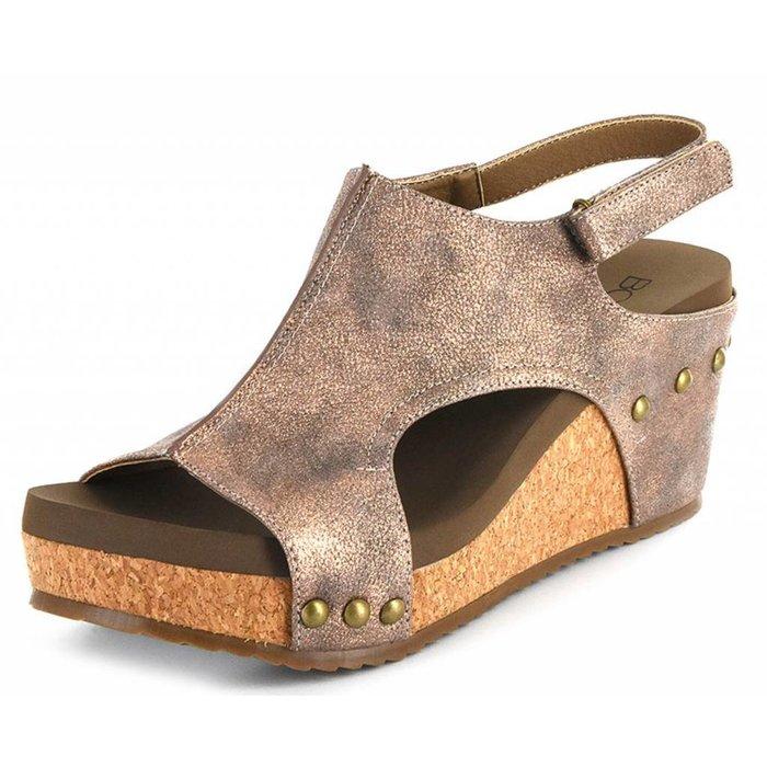 Bronze Ingrid Wedge Sandal
