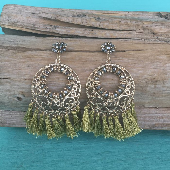 Gold Gypsy Tassel Earrings