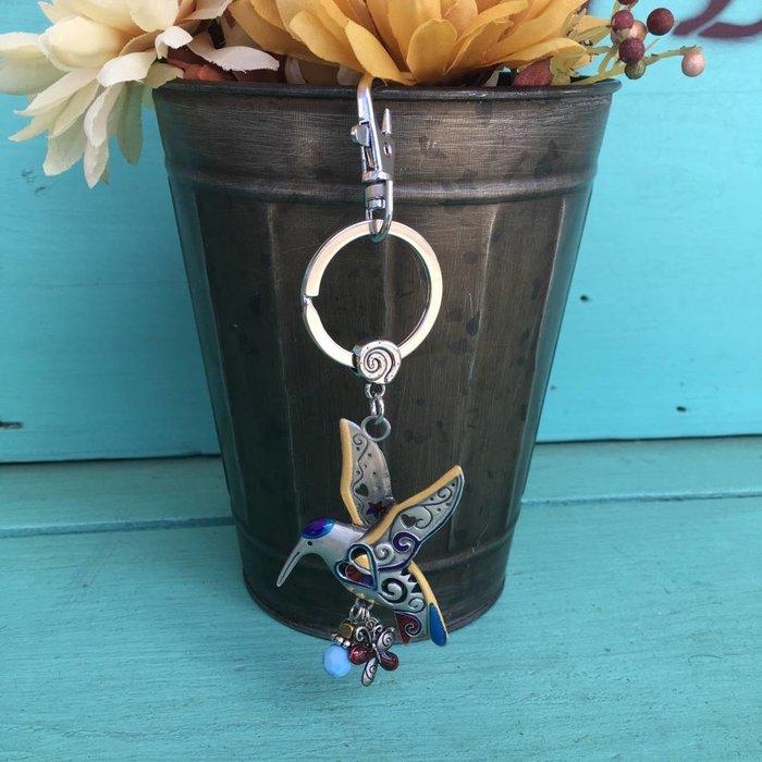 Hummingbird Color Art Key Chain