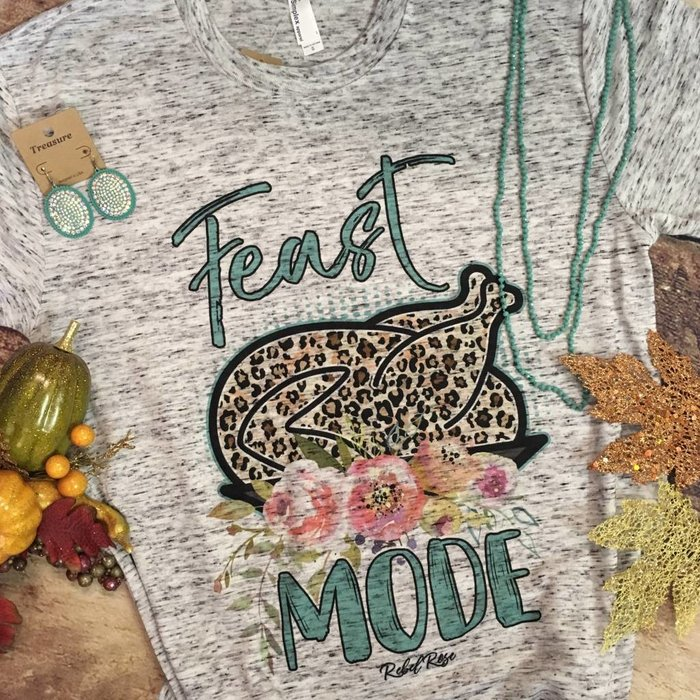 Grey Fleck Feast Mode T-Shirt