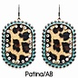 Patina AB Crystal Leopard Earrings