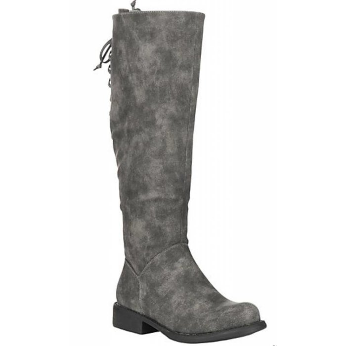 Ventura Grey Distressed Expandable Calf Boots