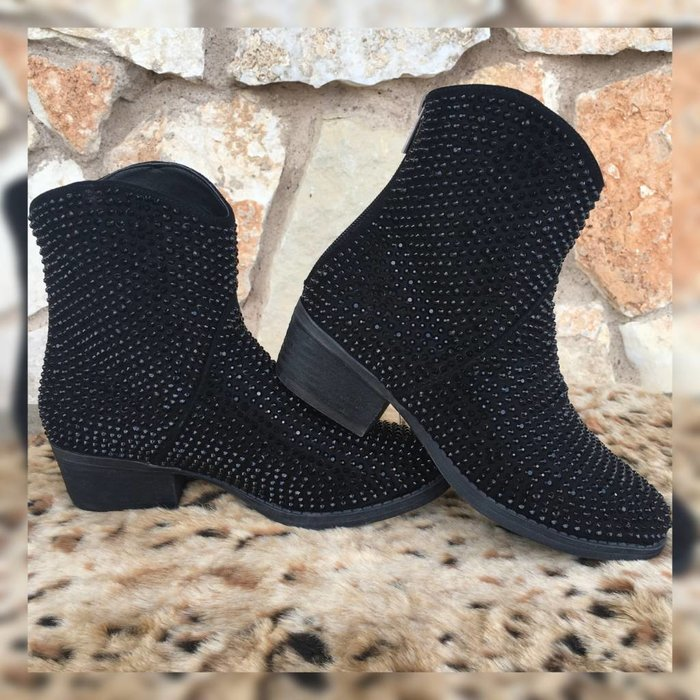 Black Blinged out Bootie by Very G