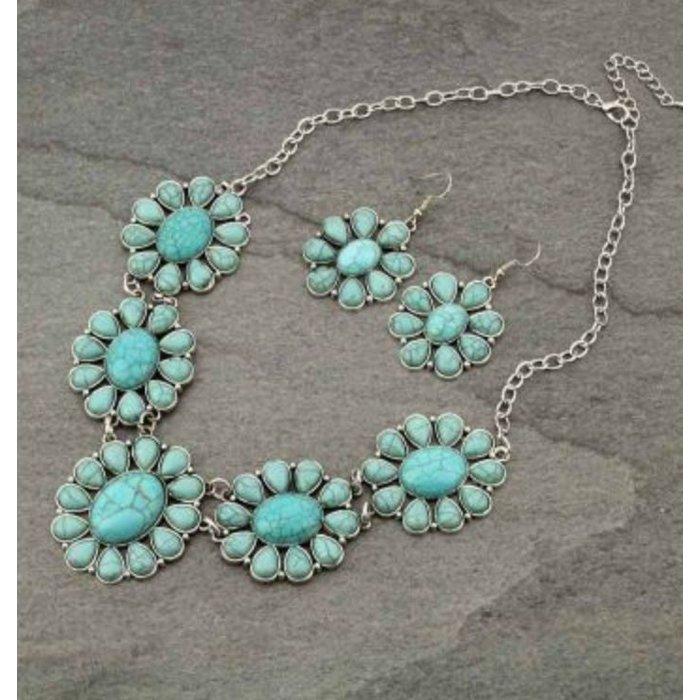 Longmire Turquoise Necklace Set