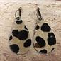 Calf Hide Leopard Teardrop Earrings