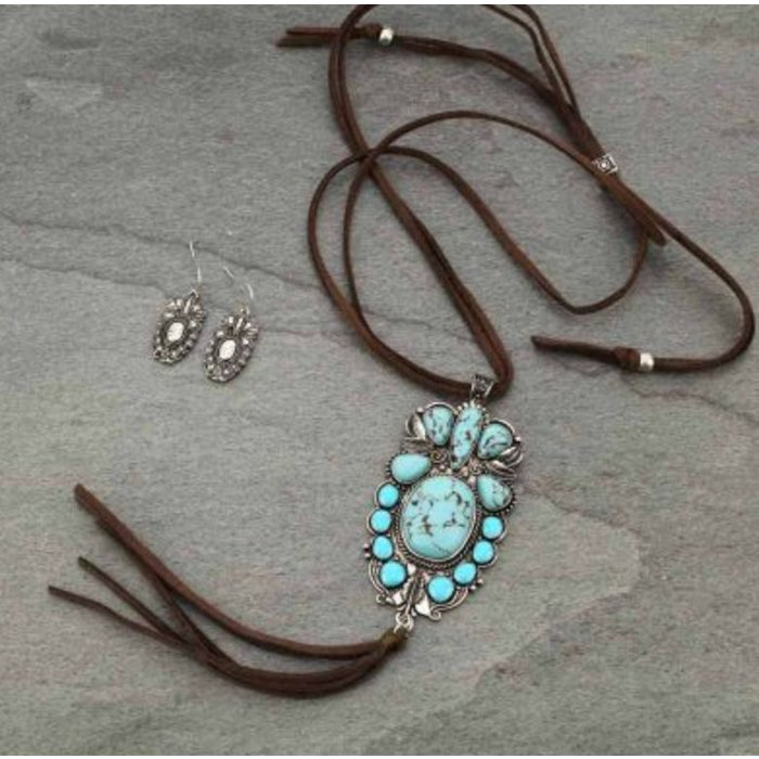 Waylon Stoned Turquoise Necklace Set