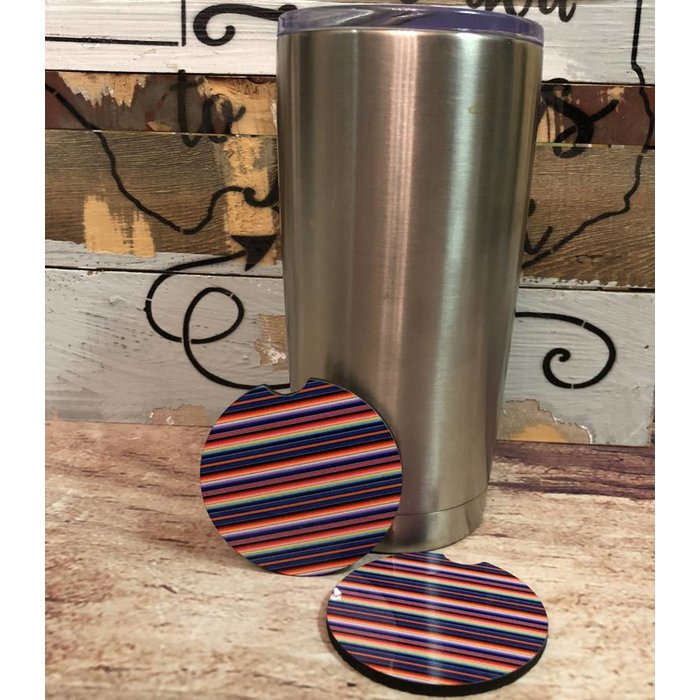 Serape Car Coasters  - Set of 2