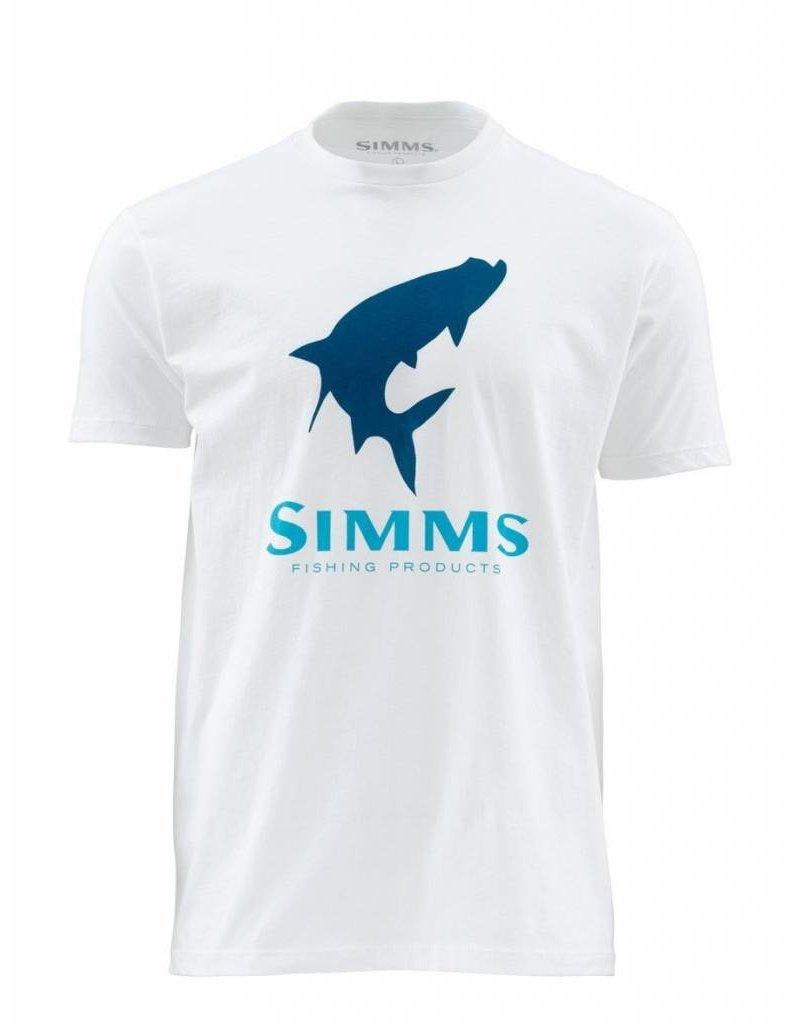 Simms Simms Tarpon Logo Tee White
