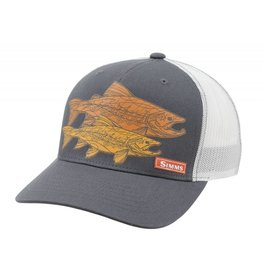 Simms Simms 5 Panel Trucker Tightlines Brown Trout Iron