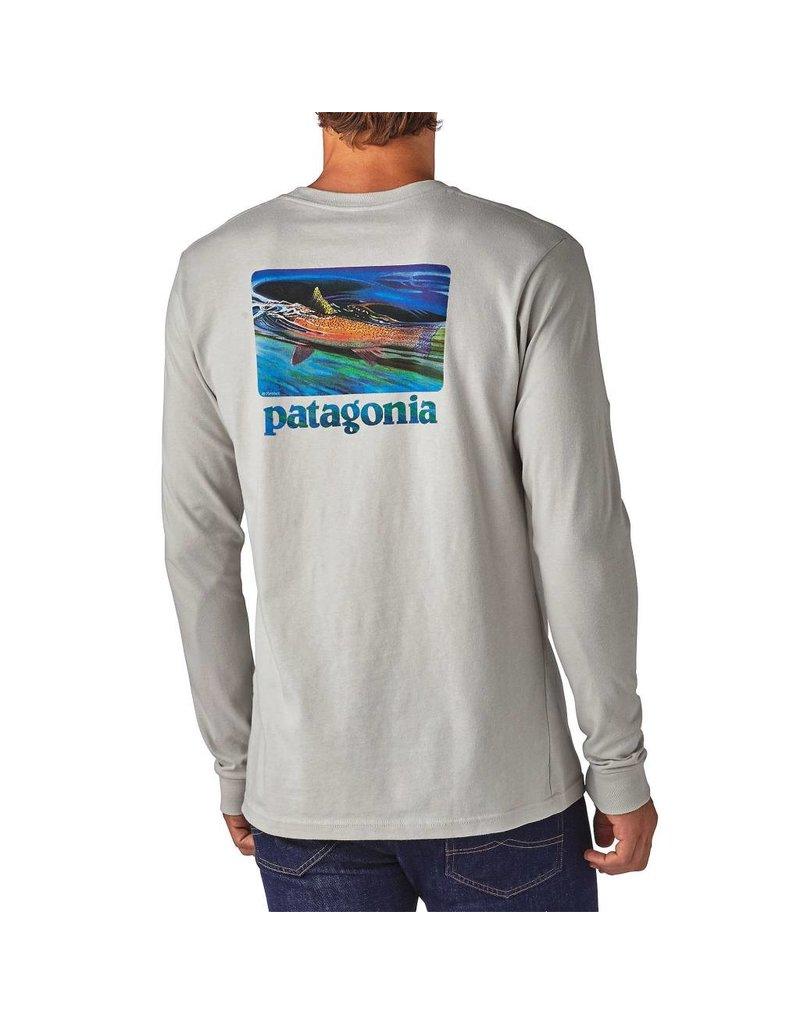 Patagonia Patagonia L/S World Trout Slurped Cotton T-Shirt