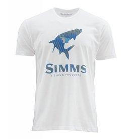 Simms Simms Hex Camo Tarpon Logo T-Shirt White