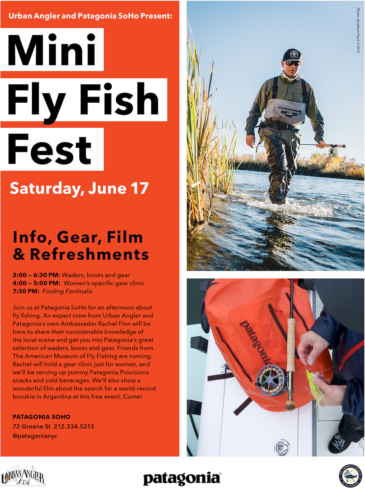 Patagonia x Urban Angler - Mini Fly Fish Fest - SoHo Store Event - 17-JUNE-2017
