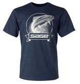 Sage Sage Heritage Tee Heather Navy Blue