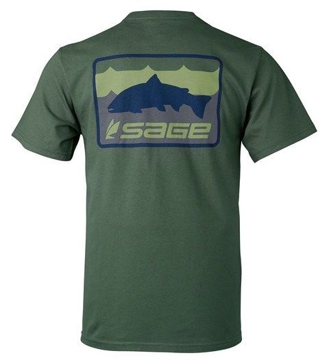 Sage Sage On The Water Tee Olive Green
