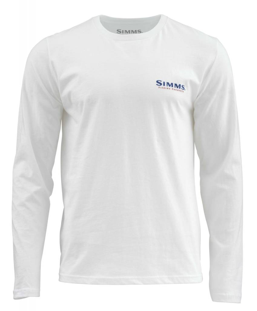 Simms Simms Trout USA T-Shirt (Long Sleeve) White