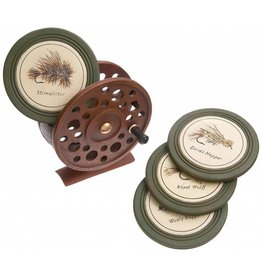 Urban Angler Fly Reel Coaster - Set of 4