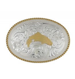 Simms Simms Silver Trout Belt Buckle
