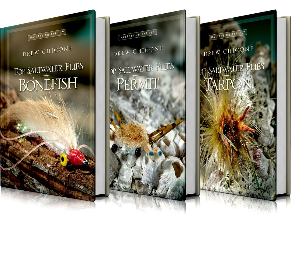 Wild River Press Top Saltwater Flies Bonefish, Tarpon, Permit Three-Volume Set by Drew Chicone