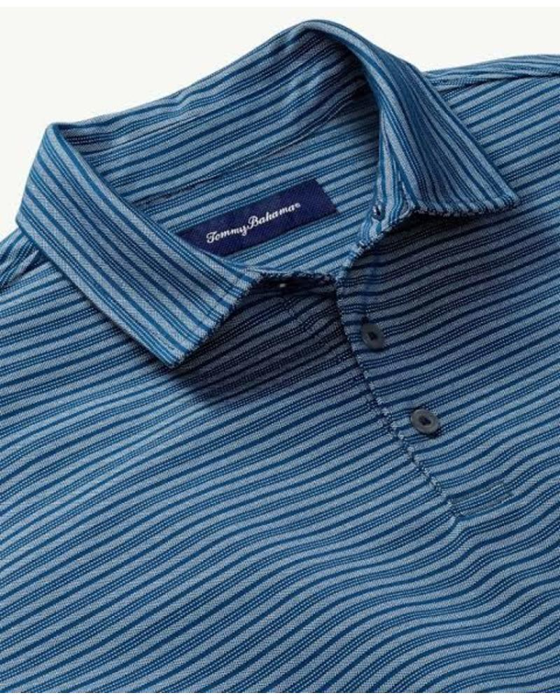 TOMMY BAHAMA STRIPED POLO