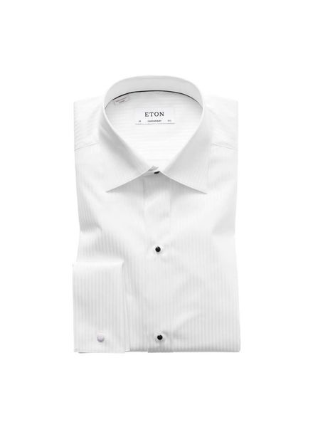 ETON OF SWEDEN SATIN STRIPED EVENING SHIRT