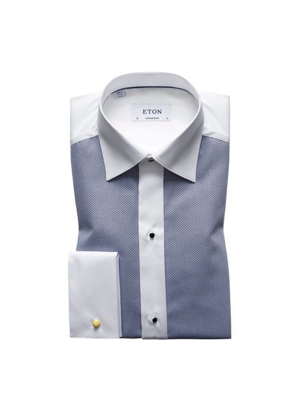 ETON OF SWEDEN PIQUE  EVENING SHIRT