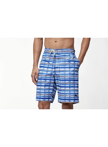 TOMMY BAHAMA PLAID SWIM TRUNKS