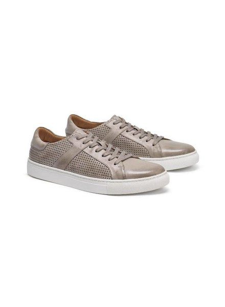 TRASK AARON LIGHT GREY CALFSKIN SNEAKERS