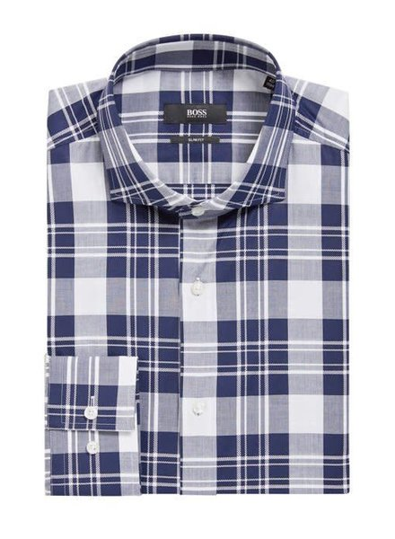 HUGO BOSS PLAID SLIM SHIRT