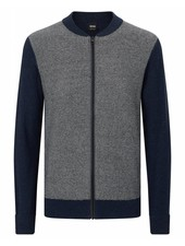 HUGO BOSS FULL ZIP KNIT SWEATER