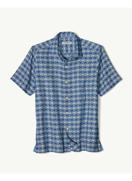 TOMMY BAHAMA GEO PLAID CAMP SHIRT
