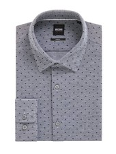 HUGO BOSS SLIM DOTTED SHIRT