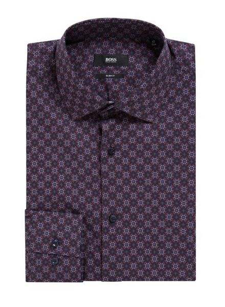 HUGO BOSS SLIM-FIT MOTIF SHIRT