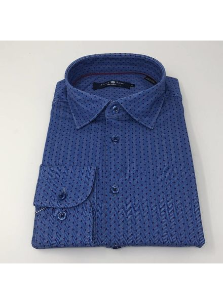 STONE ROSE JERSEY STRETCH HERRINGBONE SHIRT