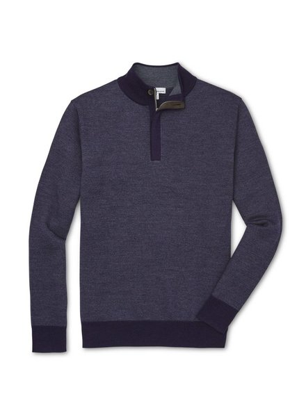 PETER MILLAR BIRDS EYE QUARTER-ZIP MOCK