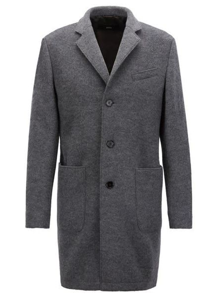 HUGO BOSS SLIM-FIT COAT IN WOOL