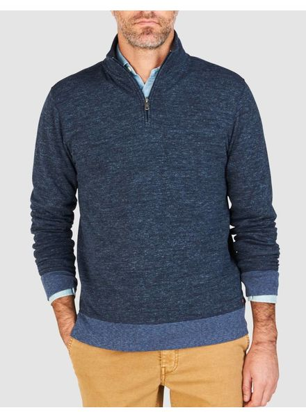 FAHERTY DUAL KNIT QUARTER ZIP