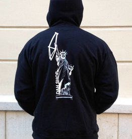 Dah Shop liberty zip up hoody black / white medium