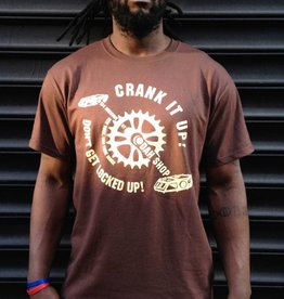 dah shop crank tshirt brown/tan x large