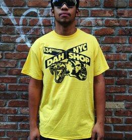 dah shop sign/x tshirt yellow/black medium