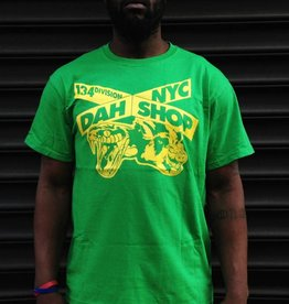 dah shop x sign tshirt green/yellow medium